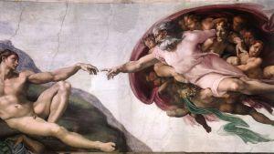 michelangelo kända målning på sixtinska kapellets tak