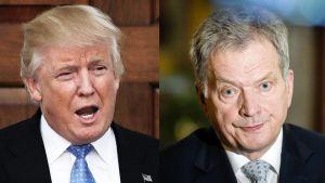 Donald Trump och Sauli Niinistö.