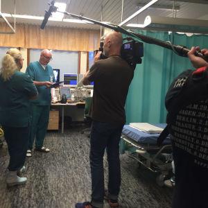 Elossa 24h kuvausryhmä Töölön sairaalassa