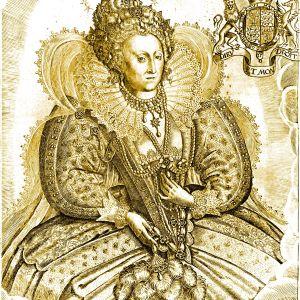 gravyr föreställande Elisabet I av Francis Delaram