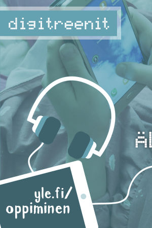 Digitreenien pääkuvassa lukee lapset ja älypuhelin