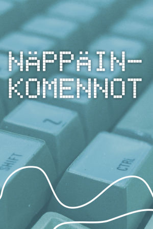 Digitreenien pääkuva, teksti Näppäinkomennot.