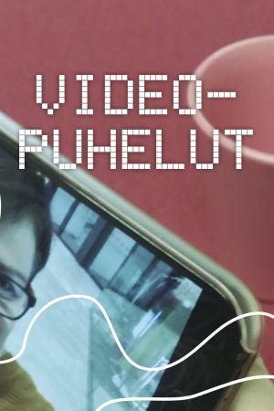 Digitrreenien pääkuva: Kasvot kännykän videopuhelussa, tekstinä Videopuhelut.