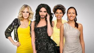 Programledarna för Eurovision 2015.