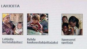 Kuvakaappaus UFF-nettisivuista, ohjelmasta Silminnäkijä (2009)