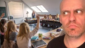 Lasse Grönroos i skolklass