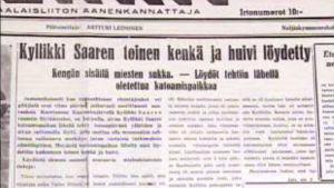 Sanomalehtikirjoitus Kyllikki Saaresta 1953
