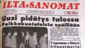 Iltasanomat 1959 uutisoi Tulilahden tapauksesta