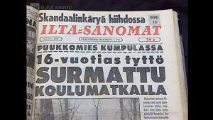 Iltasanomien uutisointia 1963