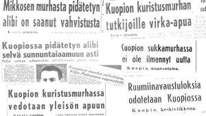 Helsingin Sanomien uutisointia Kuopion kuristusmurhista