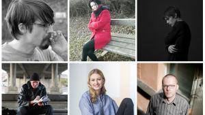 Alla sex kandidaterna till Finlandiapriset 2017 samlat i ett kollage.