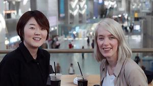 Ma Min-ji och Nina Ijäs.