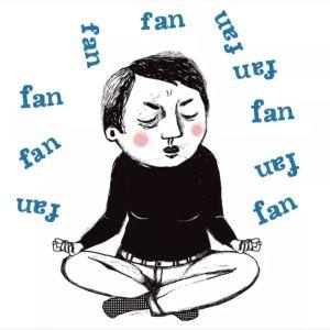 Piirrustus meditoivasta naisesta