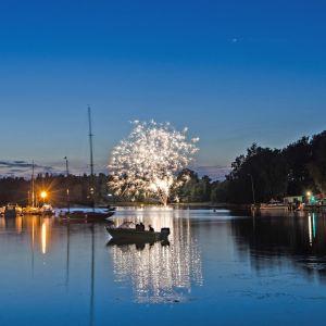 Forneldarnas natt i Kapellhamnen i Hangö.
