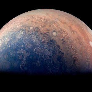 Planeten Jupiters sydpol.