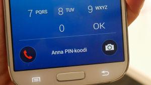 Samsung-puhelimen lukitusnäytön hätäpuhelu-kuvake