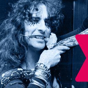 Alice Cooper med orm i Musiktestet med logo