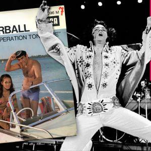 Elvis, James Bond Thunderball inylsingel och musiktestets logo