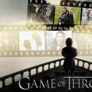 Games of Thrones kolage för GoT-Quiz