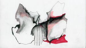 Abstrakt bild av konstnären Anna-Sofia Nylund