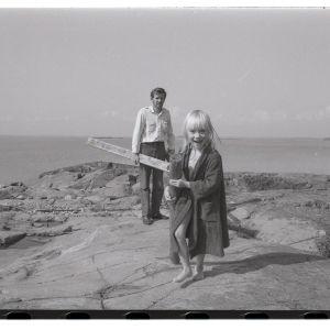 Sophia Jansson med pappa Lasse i Pellinge skärgård
