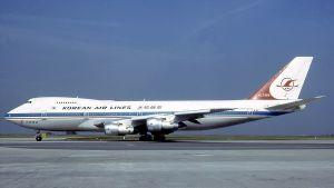 En likadan koreansk Boeing 747 sköts ned av ett sovjetiskt jaktplan 1983.