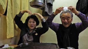 Regissören Ma Min-jis föräldrar.