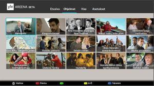 Kuva Yle Areenasta HbbTV-palvelussa