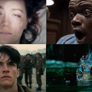 Kohtauksia elokuvista Lady Bird, Get Out, Dunkirk ja The Shape of Water
