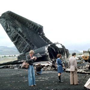 Efter flygkraschen på Teneriffa 1977.