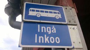 Busskylt i Ingå