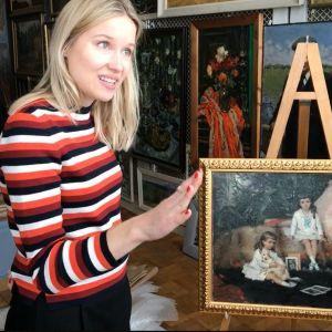Konsthistorikern Sani Kontula-Webb hittade en målning av Albert Edelfelt som varit försvunnen i hundra år. Tavlan fanns på ett museum i den ryska staden Rybinsk.