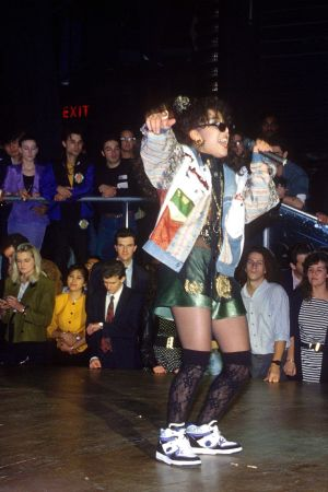 Leila K på Hippodrome i London år 1989.