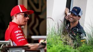 Kimi Räikkönen och Daniel Ricciardo.