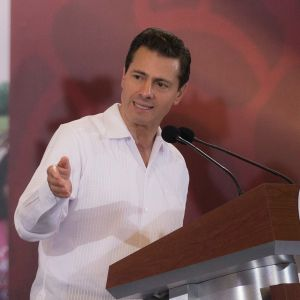 Mexikos president Enrique Peña Nieto höll ett tal i Acapulco den 25 maj.