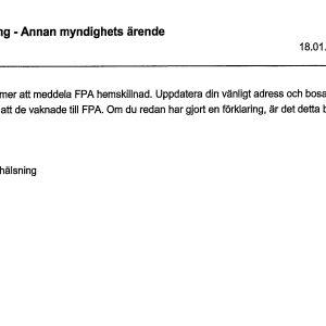 Svenskspråkig person fick svårtolkat meddelande från FPA.