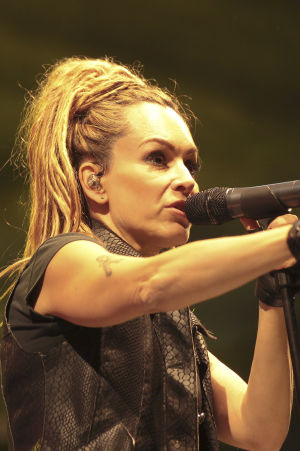 Alexia på konsert i Rome 2015.