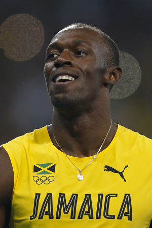 Usain Bolt under OS i Rio.