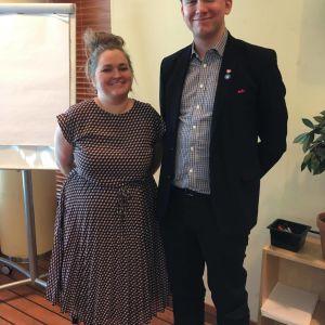 Jacob Storbjörk och Jonna Lindqvist