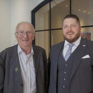 Kvarkenrådets ordförande Lennart Holmlund och direktör Mathias Lindström.