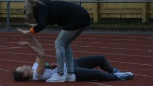 Joppe från X3M:s Stiftelsen utmanar Usain Bolt