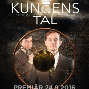 Riko Eklundh och Peter Ahlqvist i Kungens tal på ÅST (detalj ur reklamaffischen).