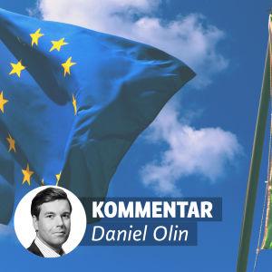 EU:s och Italiens flagga