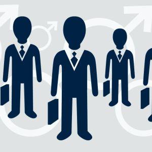 Illustration av fem män i kostym