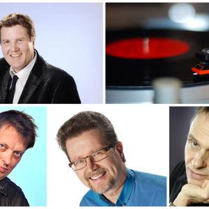 bild av musikredaktörerna Dan Eskil Jansson, Michael Cronström, Henrik Svahn och Bertil Blom