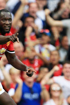 Romelu Lukaku i Uniteds tröja