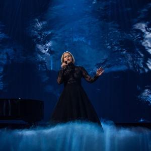Norma John Uuden Musiikin Kilpailussa 2017.