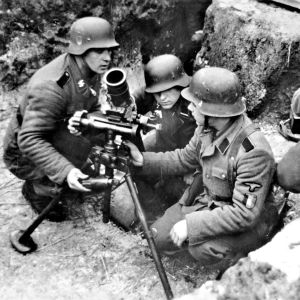 Vallonska SS-soldater vid östgränsen i januari 1944