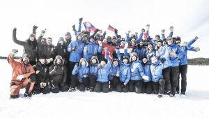 Alla deltagare och arrangörer på Fjällräven Polar.