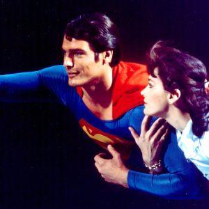 Margot Kidder och Christopher Reeve i filmen Stålmannen.